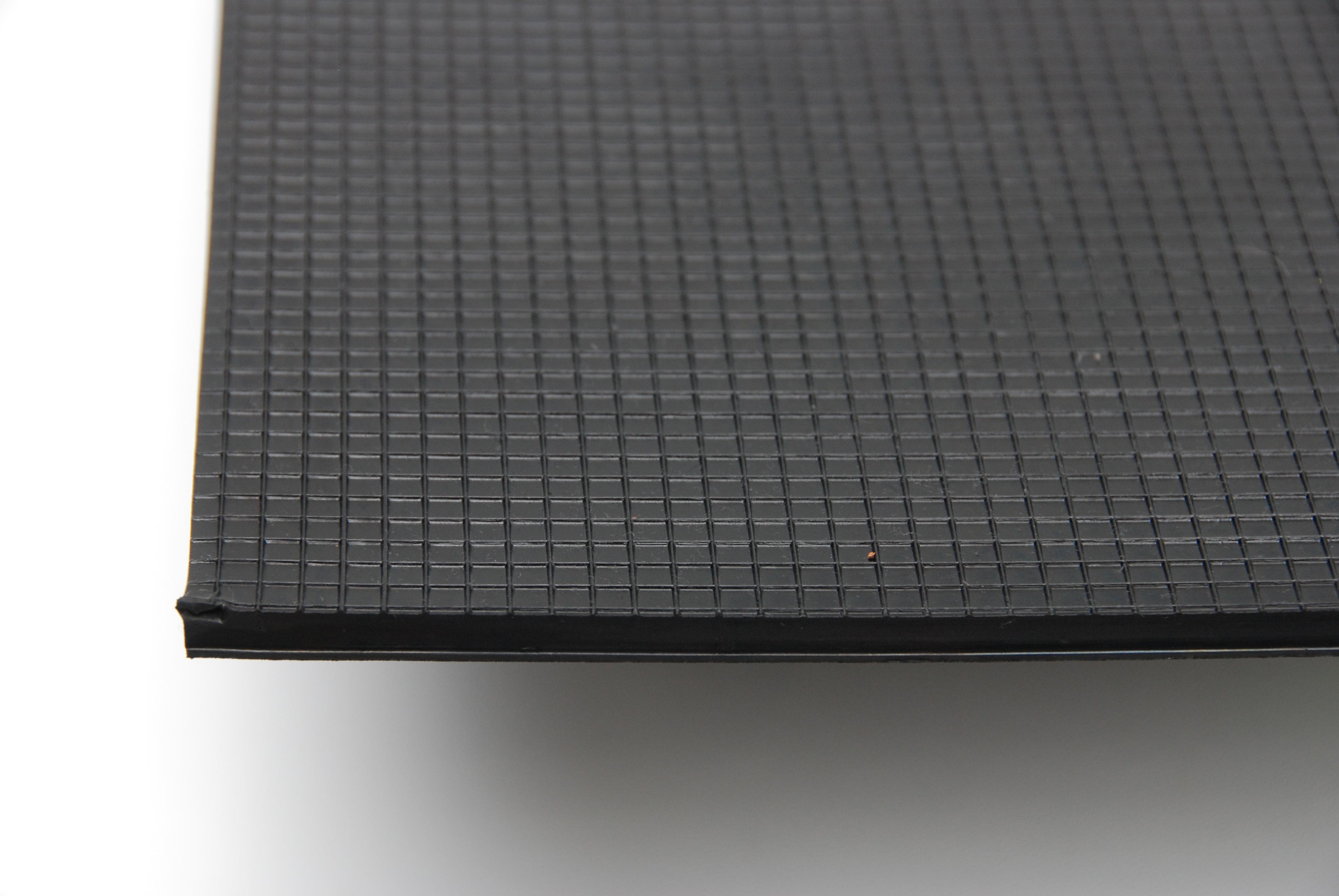 Nylon 6,5 czarna duża krata